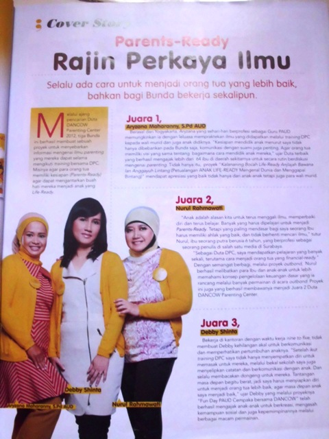 """The Big Three"" at Majalah Ayahbunda"