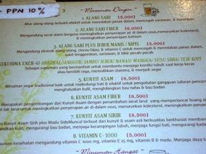 Price list jamu. Murah-meriah banget-nget :-)