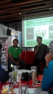 Pak Agus F. Abdillah (kiri) CEO Green Metro Car