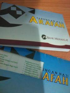 Tabungan ARAFAH --yang satu digunting oleh pihak bank, karena ganti buku baru