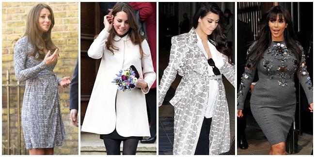 perbandingan-baju-hamil-kate-middleton-dan-kim-kardashian-lebih-cantik-mana