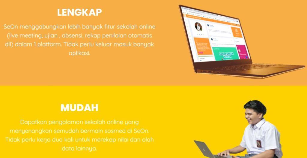 SEON Indonesia aplikasi sekolah berbasis web